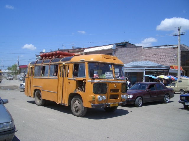 Gas propelled local bus