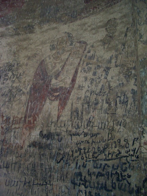 Frescoes inside Kirants church