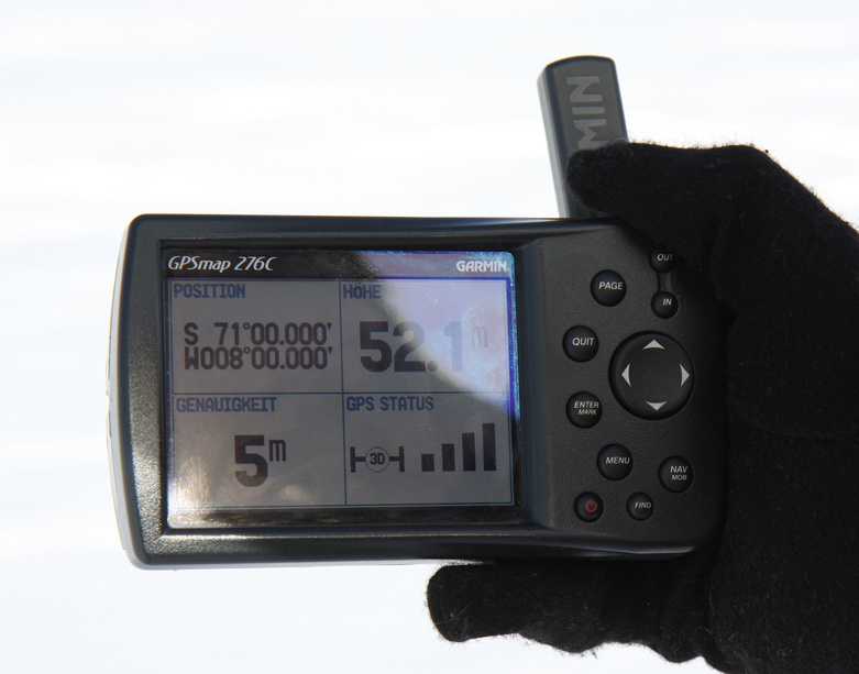GPS readout at the confluence point