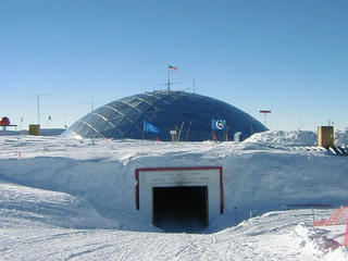#1: The entrance to the south pole station