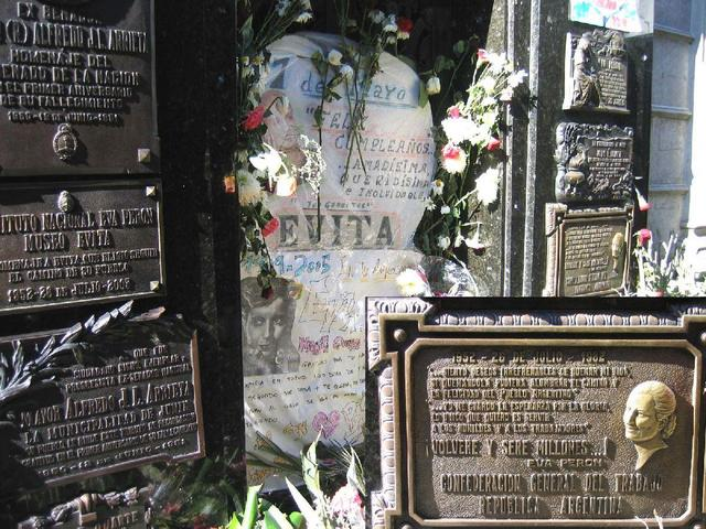 The tomb of Evita Perón