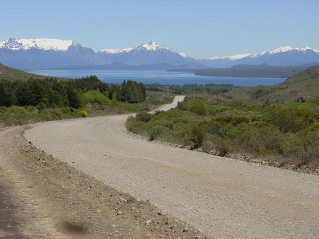 Looking back along highway 23 to Nahuel Huapi Lake