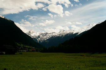 #1: Area of the confluence (Montafon) - View to west
