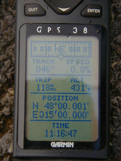 the GPS to proof the position