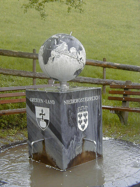 small monument marking the confluence