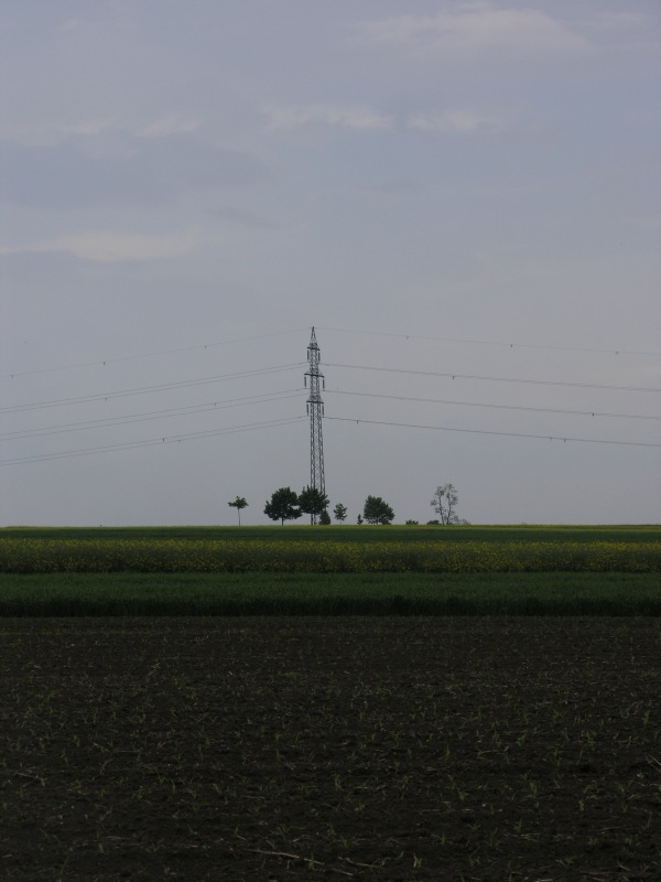 A power line passes nearby