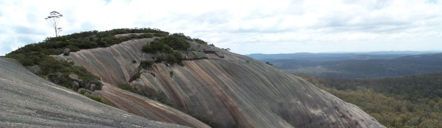 The summit of Bald Rock