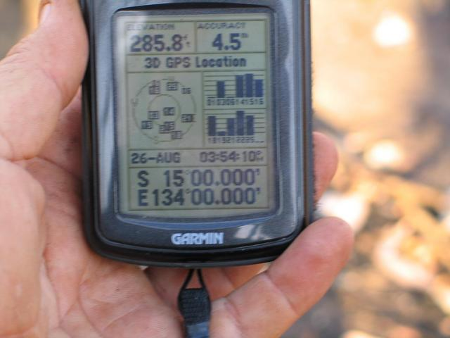 One GPS reading