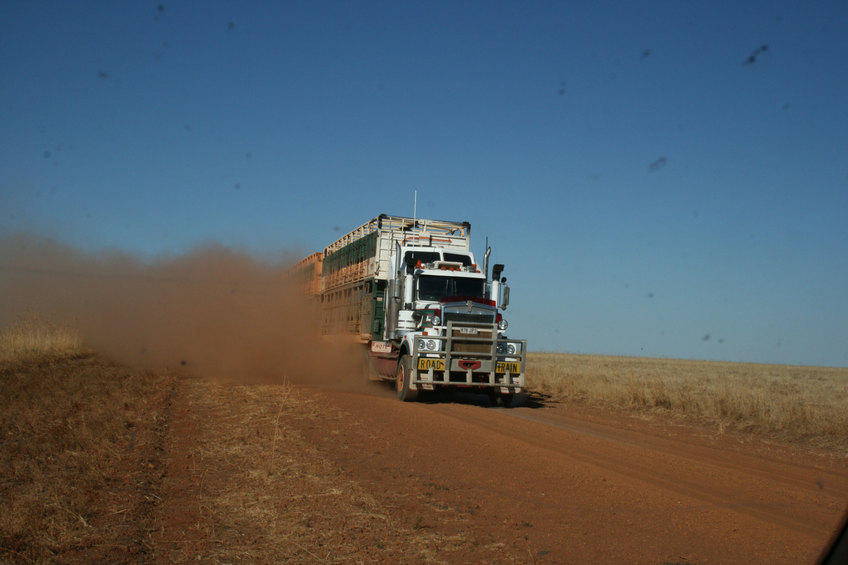 A roadtrain on the Barkly Stock Route