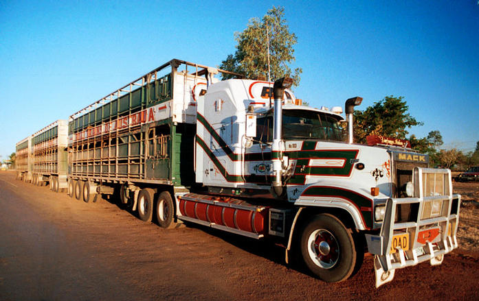 Small town, but the road trains are big.
