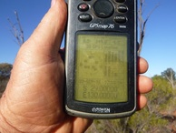 #5: My old, tired GPS with yellowing screen.