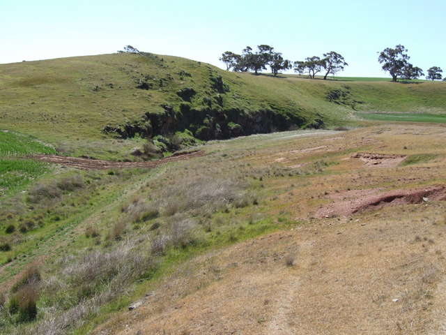Looking East Towards The Small Hill, where the Confluence was located 20m after the Top of the Hill