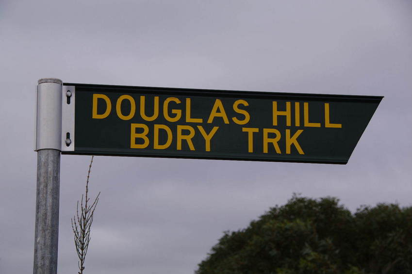 We headed due south down the Douglas Hill Bdry Trk