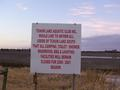 #5: Sign next to the boat ramp to the lake