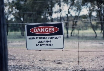Live Firing, Do Not Enter. So I didn't. Confluence should be on top of Hill