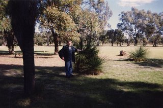 #1: James at the official Confluence grass tree