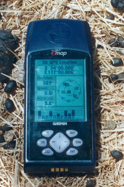 GPS surrounded by sheep and rabbit droppings