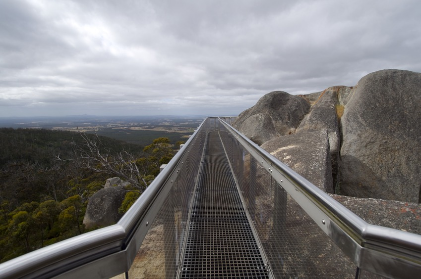 "The ""Castle Rock Granite Skywalk"", in nearby Porongurup National Park"