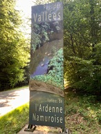 #12: This sign beside the road (just East of the point) notes the start of Belgium's Namur Province (within which the point lies)
