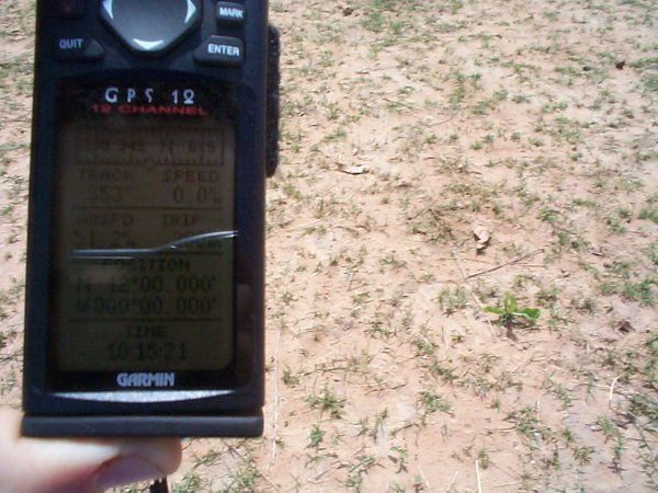 The GPS proof over dusty ground
