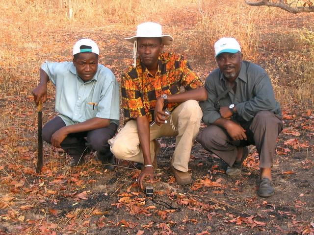 My friends, Louis, Lamine and Amadou
