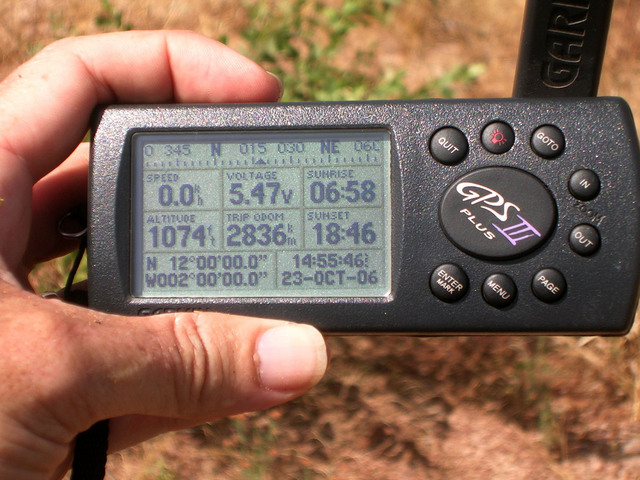 We got our zeros! GPS reading at 12N 2W