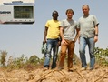 #5: Our team: Jean-Luc, Bertrand and Soumaila, and the zeros on the GPS