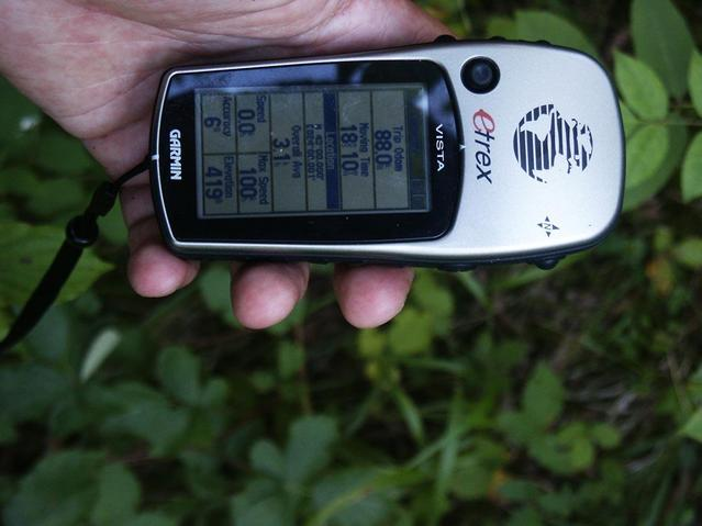 The GPS receiver I used to get to the point