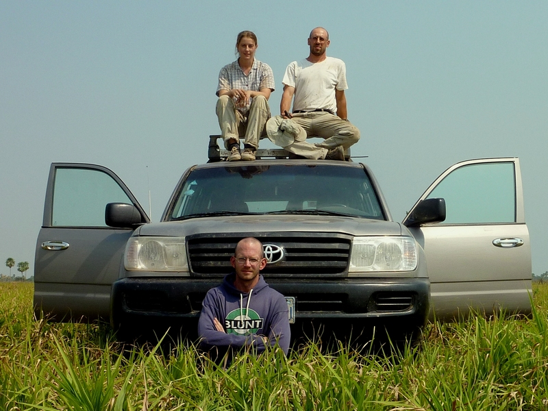 Anna, Umberto, Bernardo and the Land Cruiser