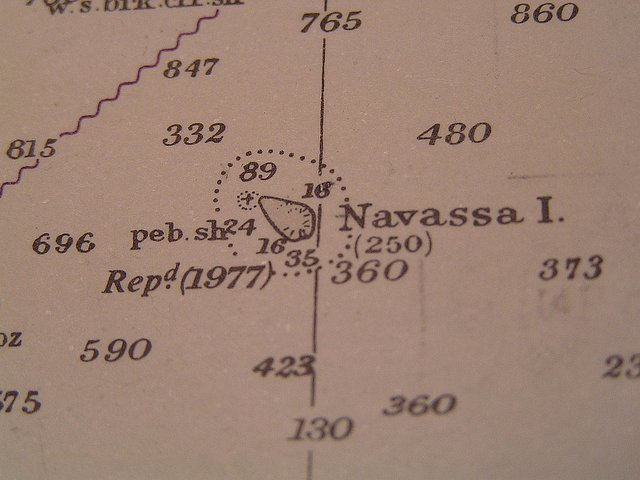 Navassa on the nautical chart