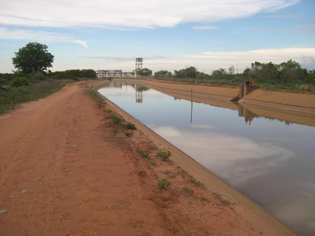 The irrigation project in Mocambinho