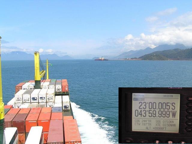 West view: La Guaíba Terminal and GPS reading