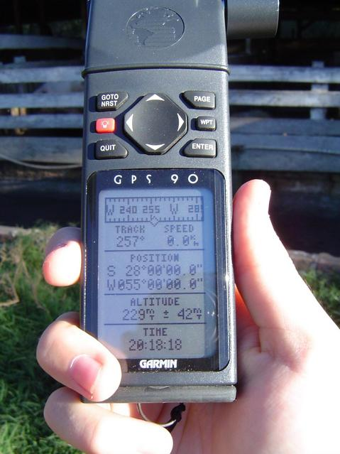 GPS showing CP and altitude of 229m