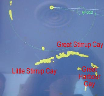 Berry islands in the radar