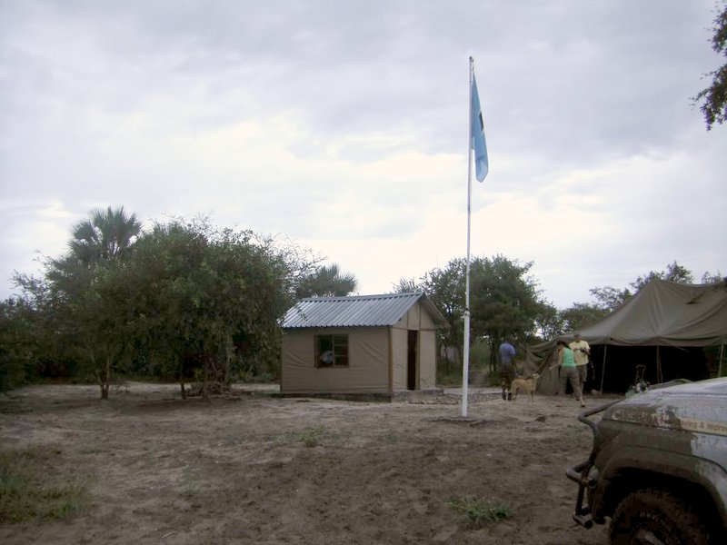 The Botswana border post at Dobe