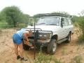 #8: Cecilia changing punctured tyre