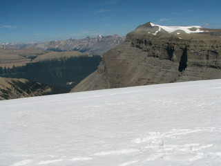 #1: The icefield at the confluence point with Mount Amery in the background