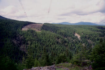 #1: View across the ravine to the confluence