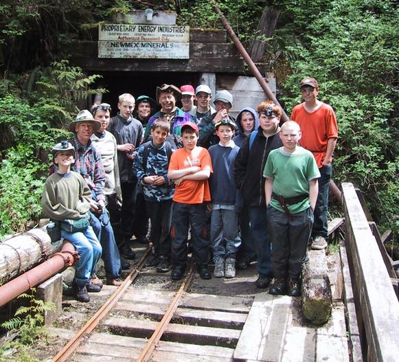 Group Photo at Zeballos Mine