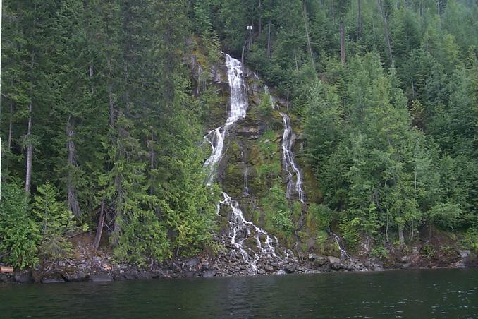 Waterfalls near the confluence.