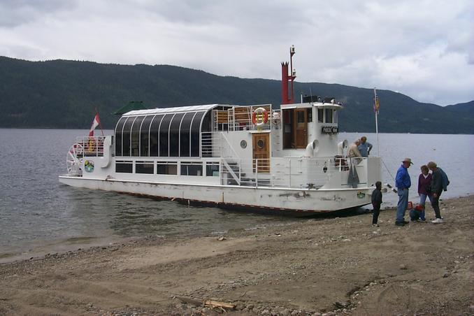 The Phoebe Ann at Narrows Village just east of the confluence.
