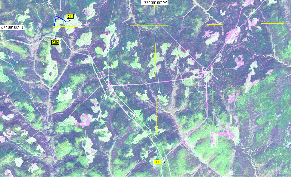 Landsat-7 satellite image (August, 2001)