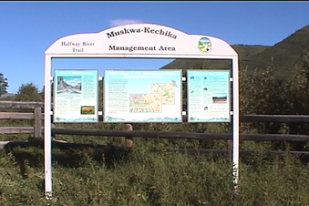 #1: Mushwa-Kechika Management Area sign