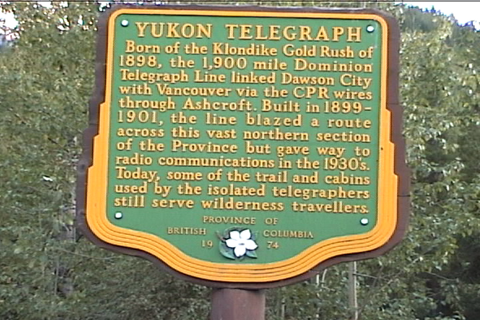 Yukon Telegraph sign