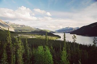 #1: Muncho Lake, looking south from Muncho Lake Viewpoint