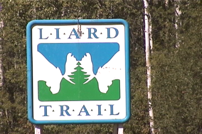 start of the Liard Trail