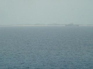#1: Sable Island seen from the confluence, off the coast a Canadian research vessel