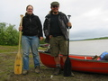 #7: The two of us at Inuvik the next day, having completed 1500 kilometers of paddling