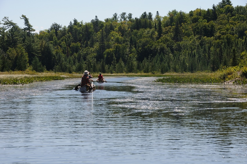 Paddling on the Amable du Fond River