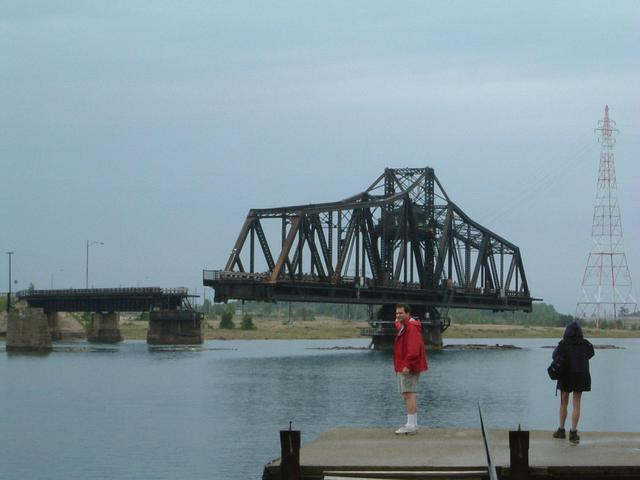 Swing Bridge connects Manitoulin Island with the mainland